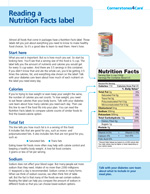 Reading A Nutrition Facts Label EN